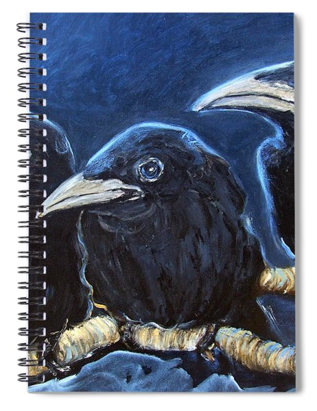 Baby Crows Spiral Notebook
