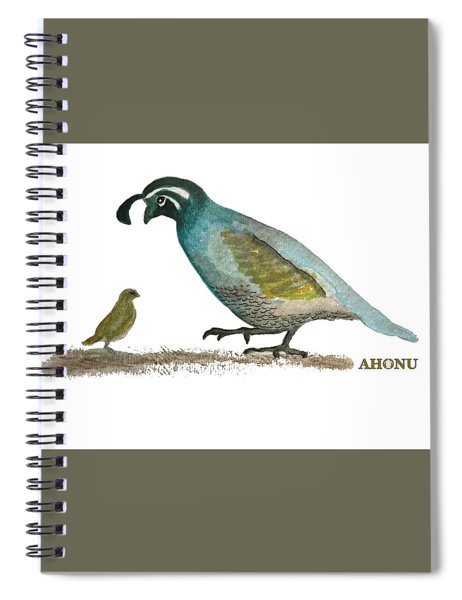 Baby Quail Learns The Rules Spiral Notebook