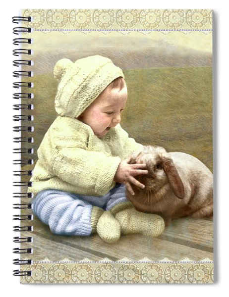 Baby Touches Bunny's Nose Spiral Notebook