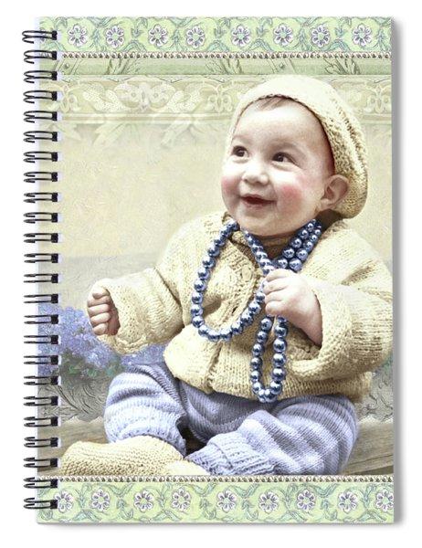 Baby Wears Beads Spiral Notebook
