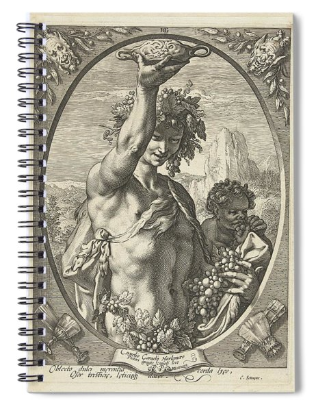 Bacchus God Of Ectasy Spiral Notebook