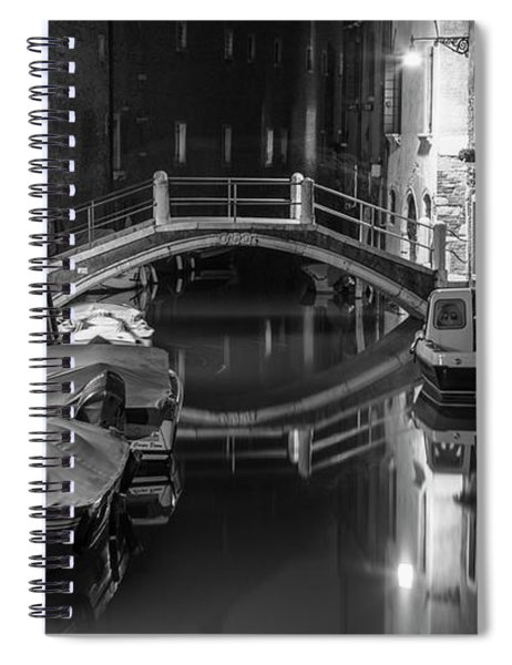 Back Canal In Venice Italy  Spiral Notebook