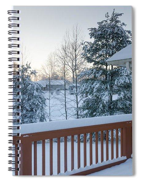 Winter Deck Spiral Notebook