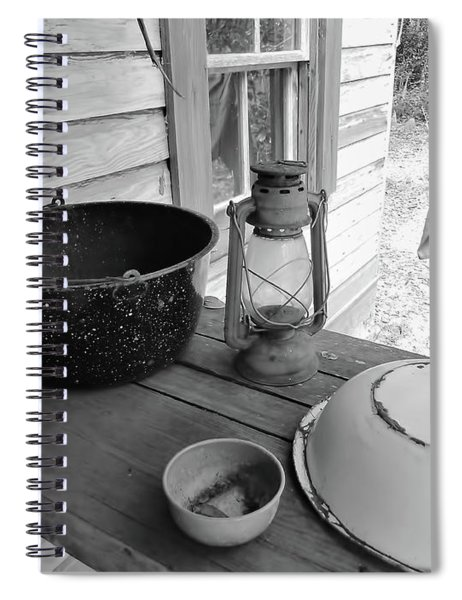 Back In Time B - W Spiral Notebook