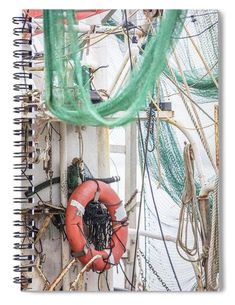 Back Of The Shrimp Boat  Spiral Notebook