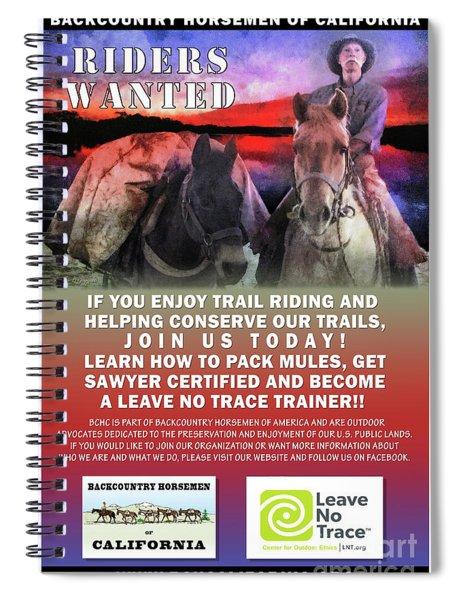 Backcountry Horsemen Join Us Poster II Spiral Notebook