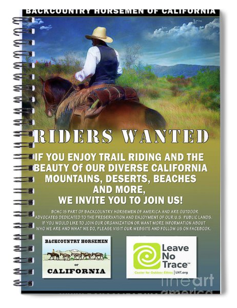 Backcountry Horsemen Join Us Poster Spiral Notebook