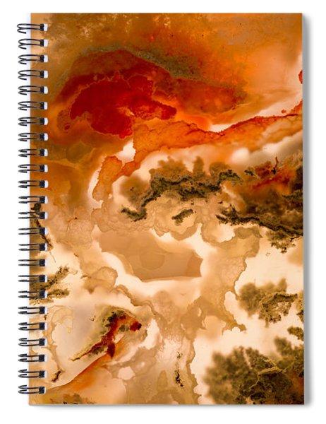 Backlit Agate 2 Spiral Notebook