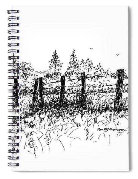 Backlit Fence Spiral Notebook