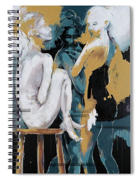 Backstage - Beauties Sharing Secrets Spiral Notebook