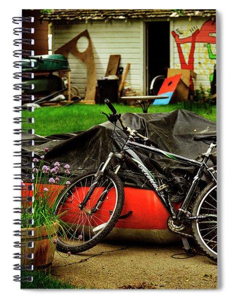 Backyard Neighborhood Bicycle Spiral Notebook