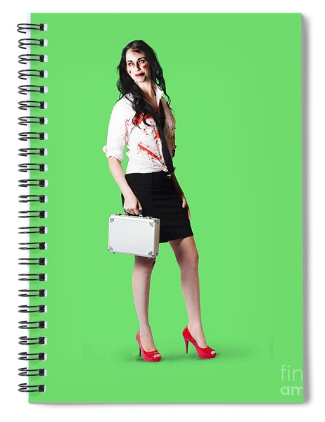Bad Day At The Office Spiral Notebook