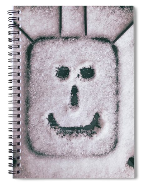 Bad Weather, Good Face Spiral Notebook
