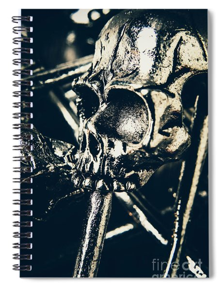 Badge Of Punk Fashion Spiral Notebook