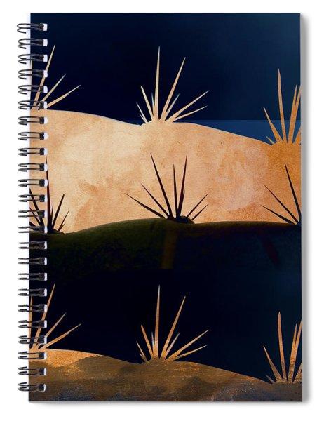 Baja Landscape Number 1 Square Spiral Notebook by Carol Leigh