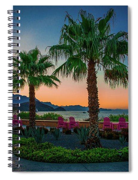 Baja Sunset Spiral Notebook
