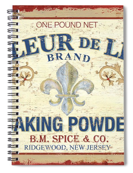 Baking Powder Fleur De Lis Spiral Notebook