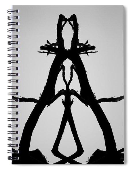 Balanced I Bw Spiral Notebook