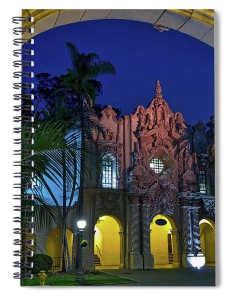 Balboa Park At Twilight In San Diego, California, Usa Spiral Notebook