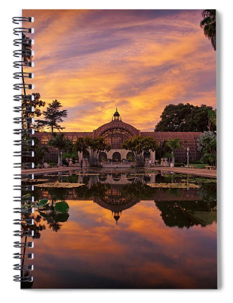Balboa Park Botanical Building Sunset Spiral Notebook