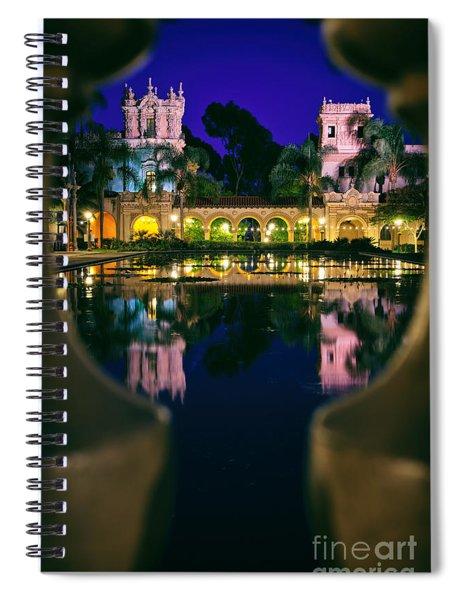 Balboa Park Reflections  Spiral Notebook