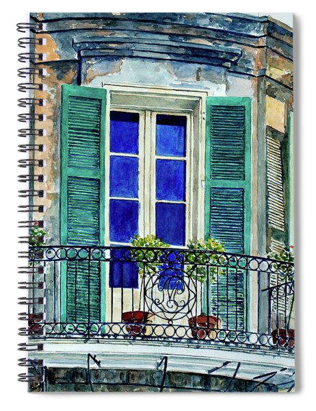 Balcony, New Orleans Spiral Notebook