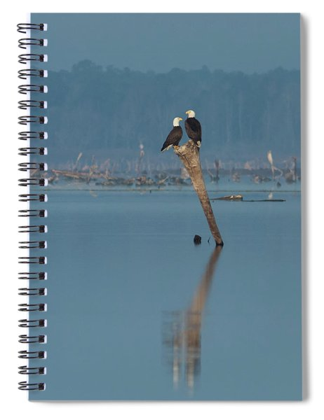 Bald Eagle Pair Spiral Notebook