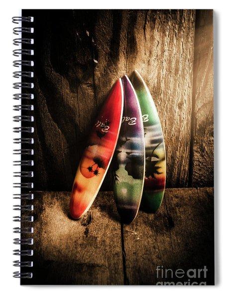 Bali Beach Surf Holiday Scene Spiral Notebook