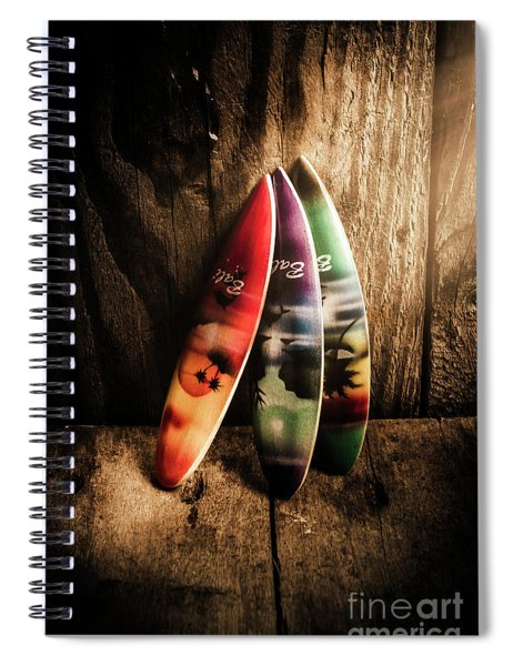 Bali Beach Surf Holiday Scene Spiral Notebook
