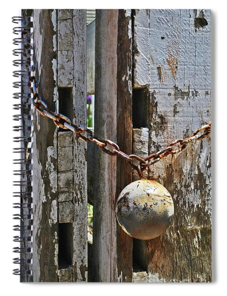 Ball And Chain Spiral Notebook