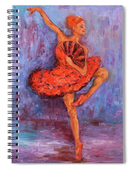 Ballerina Dancing With A Fan Spiral Notebook