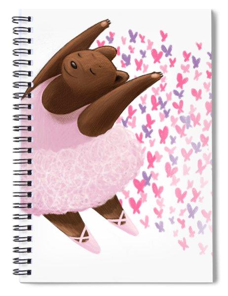 Ballet Bear Spiral Notebook