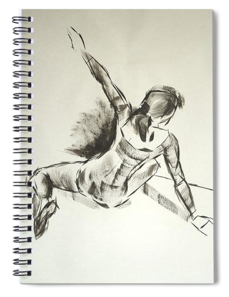 Ballet Dancer Sitting On Floor With Weight On Her Right Arm Spiral Notebook