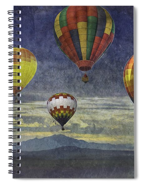 Balloons Over Sister Mountains Spiral Notebook
