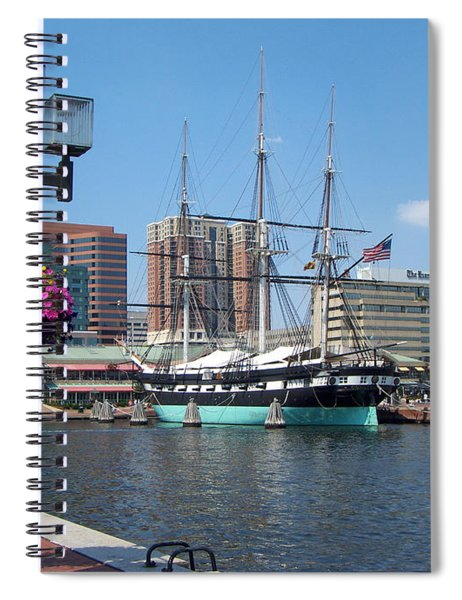 Baltimore Inner Harbor Spiral Notebook