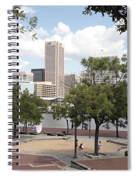 Baltimore Inner Harbor Play Area Spiral Notebook