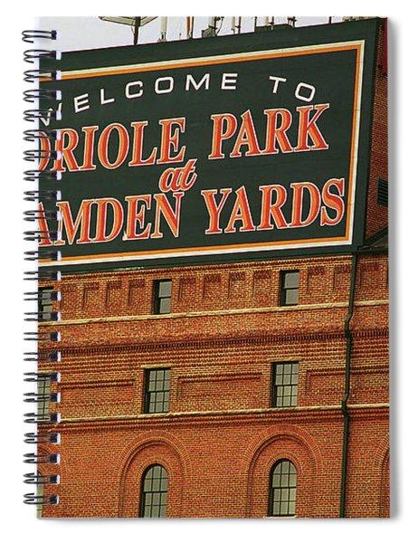 Baltimore Orioles Park At Camden Yards Spiral Notebook