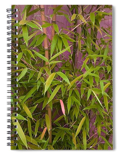 Bamboo Leaves In Halloween Glow Spiral Notebook