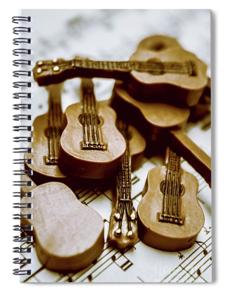 Band Of Live Acoustic Guitars Spiral Notebook