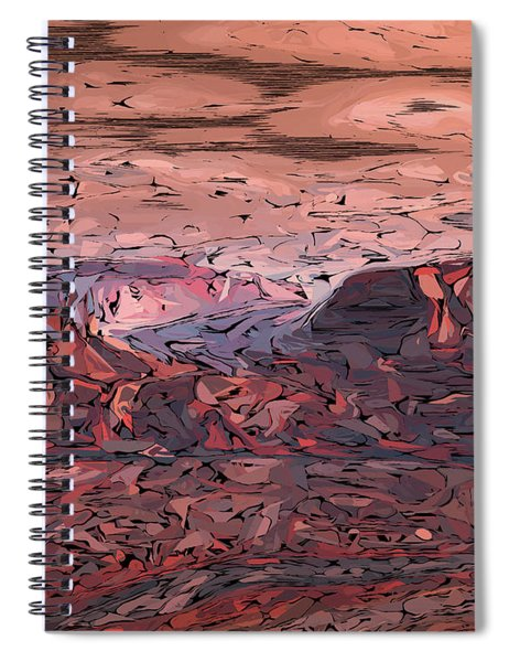 Banded Canyon Abstract Spiral Notebook