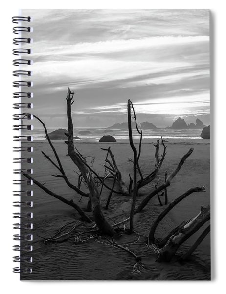 Bandon Beach Tree Spiral Notebook