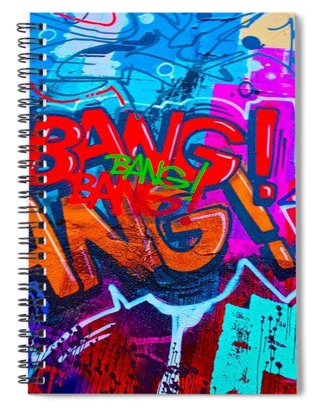 Bang Graffiti Nyc 2014 Spiral Notebook