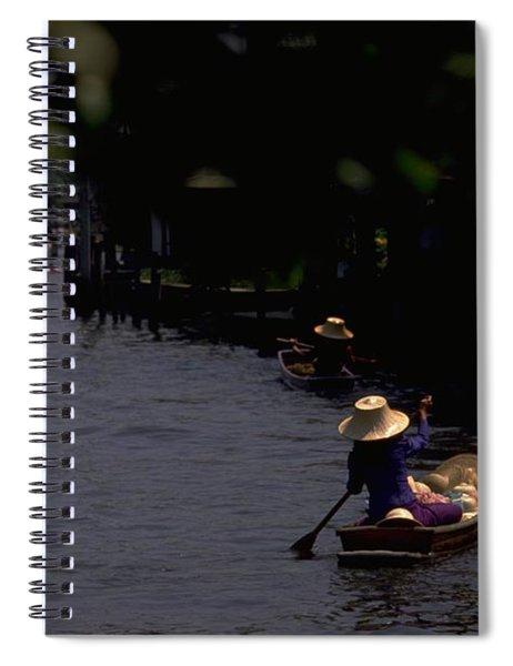 Bangkok Floating Market Spiral Notebook
