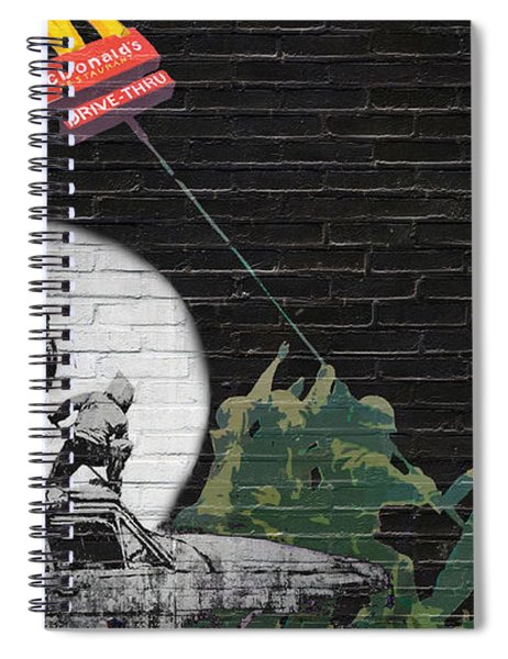 Banksy - The Tribute - New World Order Spiral Notebook