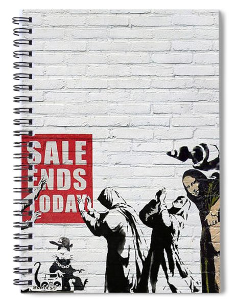 Banksy - The Tribute - Saints And Sinners Spiral Notebook