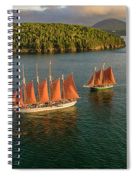 Sailing Thru Life The Downeast Way Spiral Notebook