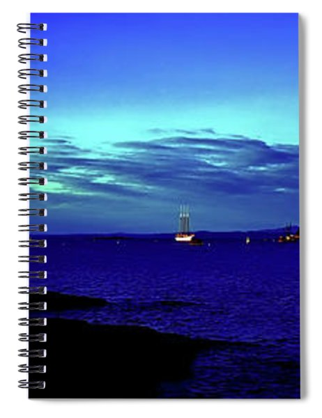 Bar Harbor, Maine Sunset Cruse  Spiral Notebook