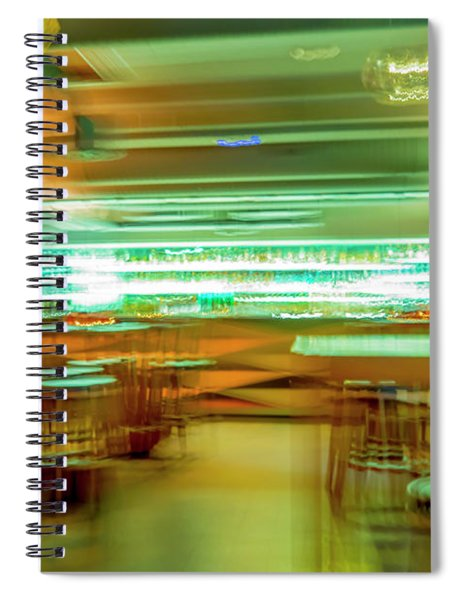 Bar In Motion Blur Spiral Notebook