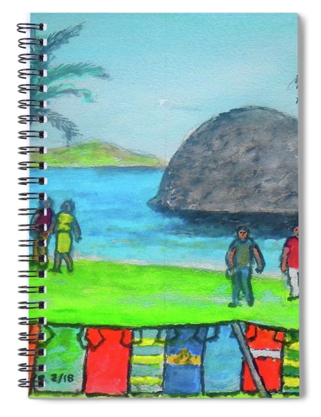Barbados Beach Tee Shirts Spiral Notebook