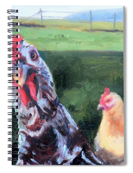 Barbara The Chicken Spiral Notebook